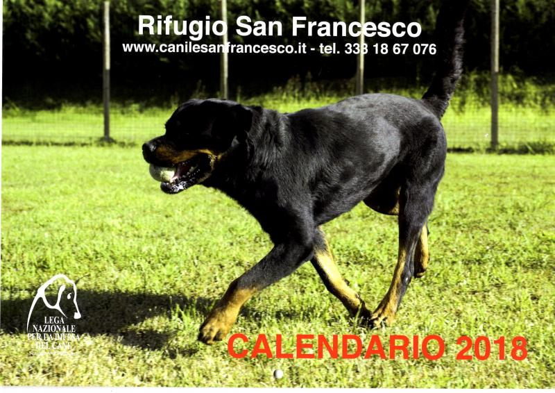 RIFUGIO sAN fRANCESCO - CALENDARIO 2018